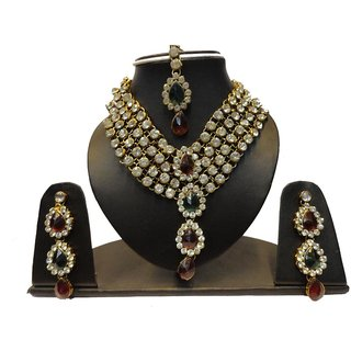Natraj Arts American Diamond Jewellery Necklace Set Gfns_M_266