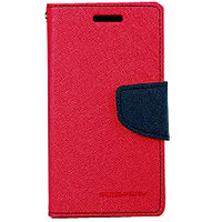 WA MERCURY WALLET FLIP CASE WITH SATAND FOR MICROMAX A-110 PINK