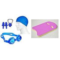 Aurion Combo of Swimming Kickboard Safe Pool  Swimming Kit