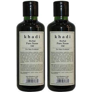 Khadi Herbal Pure Neem Oil - 210ml (Set of 2)