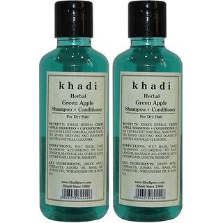Khadi Herbal Green Apple Shampoo + Conditioner - 210ml (Set of 2)
