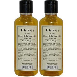 Khadi Herbal Honey Lemon Juice Shampoo - 210ml (Set of 2)