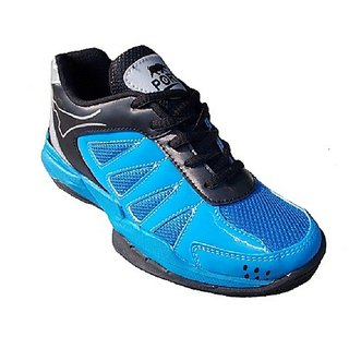 Port Mens Gripper Sky Blue Pu Badminton Shoes