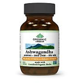 ORGANIC INDIA Ashwagandha 60 Capsules Bottle