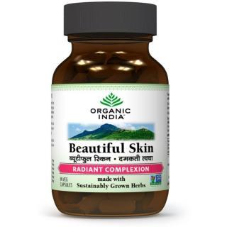 ORGANIC INDIA Beautiful Skin 60 Capsules Bottle