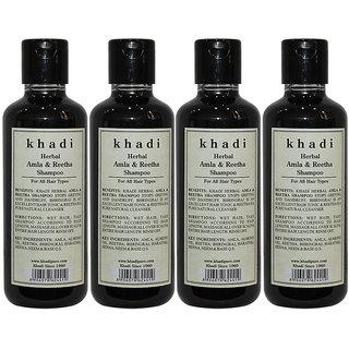 Khadi Herbal Amla Reetha Shampoo - 210ml (Set of 4)