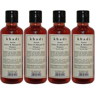 Khadi Herbal Honey Almond Oil Shampoo - 210ml (Set of 4)