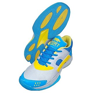 Port Mens Gryphon Multi Color Pu Badminton Sports Shoes