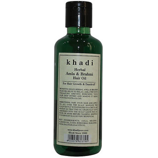 Khadi Herbal Amla Brahmi Hair Oil - 210ml