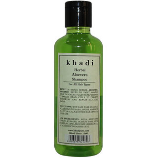 Khadi Herbal Aloevera Shampoo - 210ml