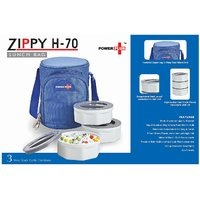 ZIPPY LUNCH BAG 3 CONTAINERS (PLASTIC)