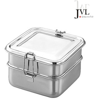 JVL Double Layered Square Lunch Box