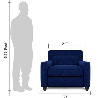 Adorn Homez Solitaire Fabric 1 Seater Sofa set-Royal