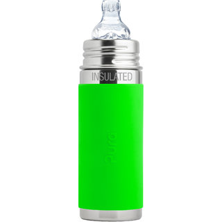 Pura Kiki 9oz Green Sleeve Vaccum Insulated Sippy Cup Feeding Bottle By Montyybucks Inc.