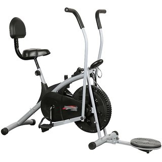 Body Gym Air Bike Stamina Exercise Cycle With Back  Twister Exercise Bike available at ShopClues for Rs.7990