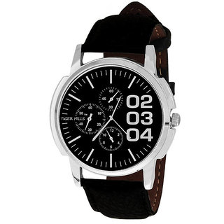 Tigerhills Watch Strap Black Dial black White Model No-T1461722