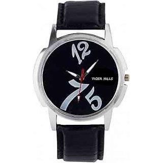 Tigerhills Black Watch Strap Black New Stylish Model No-T1461777