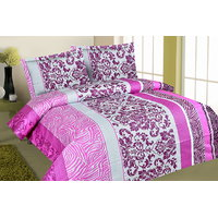Zigma Collections Color Of Dreams 100% Cotton Double Bedsheet - 5028814