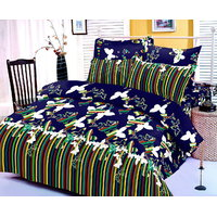 Zigma Collections Color Of Dream 100% Cotton Double Bedsheet - 5028798