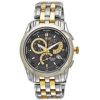 Citizen Yellow Stainless Steel Round Dial Quartz Watch For Men (BL8008-52E)