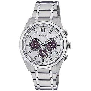 Citizen White Metal Round Dial Quartz Watch For Men (CA4011-55A)