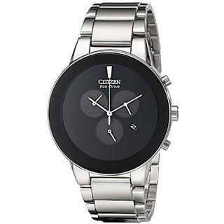 Citizen Silver Synthetic Round Dial Quartz Watch For Men (AT2240-51E)