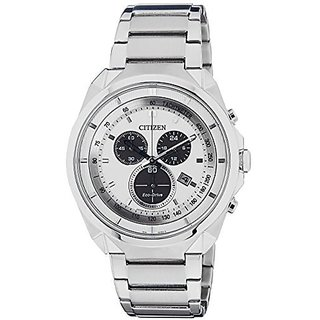 Citizen White Stainless Steel Round Dial Quartz Watch For Men (AT2150-51A)