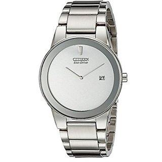 Citizen Silver Synthetic Round Dial Quartz Watch For Men (AU1060-51A)