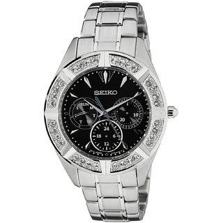 Seiko Silver Stainless Steel Round Dial Chronograph Watch For Women (SKY675P1)