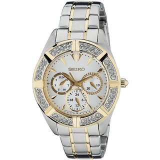 Seiko Silver Stainless Steel Round Dial Chronograph Watch For Women (SKY676P1)