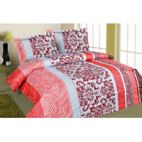 Zigma Collections Color Of Dreams 100% Cotton Double Bedsheet - 5028920