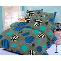Zigma Collections Color Of Dream 100% Cotton Double Bedsheet - 5028972