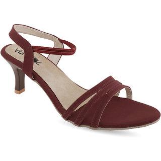 Vendoz Women Maroon Heels