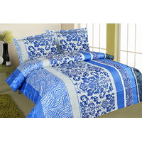 Zigma Collections Color Of Dreams 100% Cotton Double Bedsheet - 5029352
