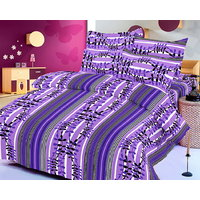 Zigma Collections Color Of Dreams 100% Cotton Double Bedsheet - 5029586