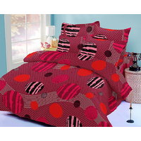 Zigma Collections Color Of Dream 100% Cotton Double Bedsheet - 5029488