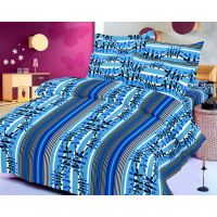 Zigma Collections Color Of Dream 100% Cotton Double Bedsheet - 5029882