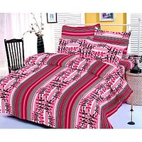 Zigma Collections Color Of Dream 100% Cotton Double Bedsheet - 5029954
