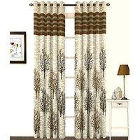 ILiv Premium Brown Panel Curtain ( Set Of 2 ) 7Ft
