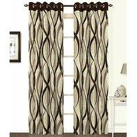ILiv Brown Jute Curtain - 7Ft