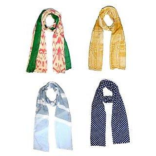 Sri Belha Fashions New Design 2017 Collection scarf Stole Set Of -4 Pcs