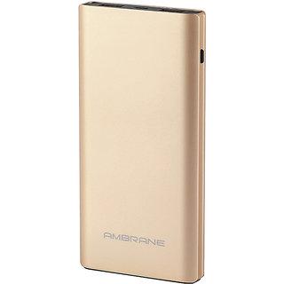 Ambrane Plush PQ-800 Quick Charge C-Port 8000 mAh Power Bank Gold