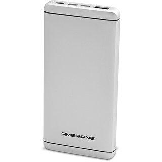 Ambrane Plush PQ-800 Quick Charge C-Port 8000 mAh Power Bank Silver