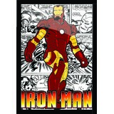 "Iron Man Poster With Black Frame 8.5"" X 11"""
