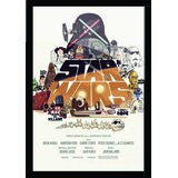 "Star Wars Poster With Black Frame Size 8.5""x11"""