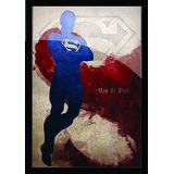 "SuperMan Poster With Black Frame 8.5"" X 11 """