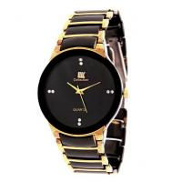 IIK Men Golden  Black Metal Casual Watches  h