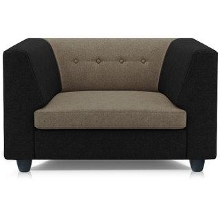 Adorn Homez Fremont Fabric 1Seater Sofa Set-Black&