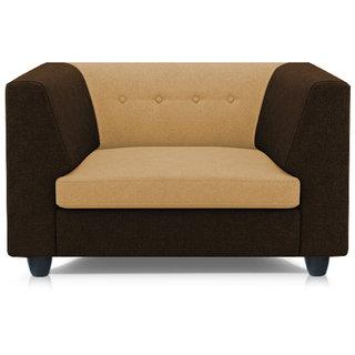 Adorn Homez Fremont Fabric 1Seater Sofa Set-Brown&