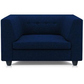Adorn Homez Fremont Fabric 1Seater Sofa Set-NevyBlue